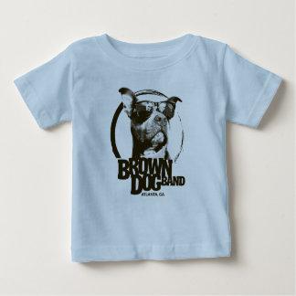 T-shirt Pour Bébé Logo de bande de chien de Brown