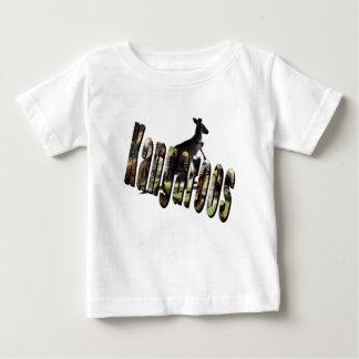 T-shirt Pour Bébé Logo dimensionnel d'image de kangourou,