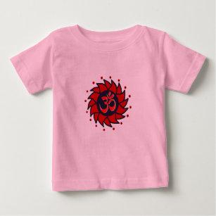 7ea6f666717e0 T-shirt Pour Bébé L OM et le soleil rouge - vêtements de yoga