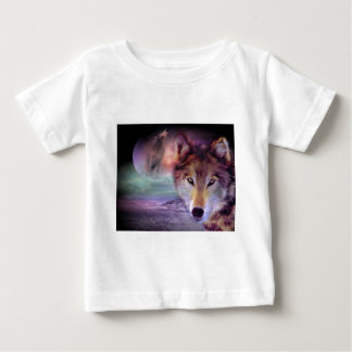 T-shirt Pour Bébé Loup de lune