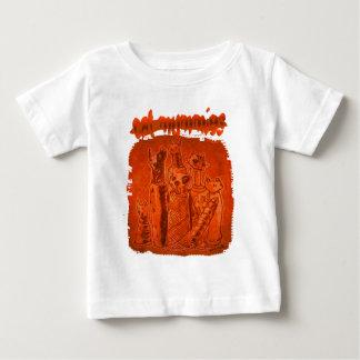 T-shirt Pour Bébé lumière orange de mamans de chat