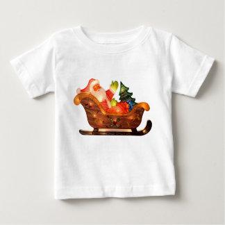 T-shirt Pour Bébé Lumières de Noël de Faux Père Noël dans Sleigh