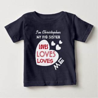 T-shirt Pour Bébé Ma GRANDE SOEUR m'aime avec le texte fait sur