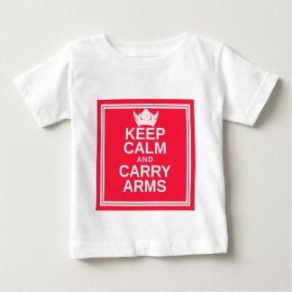 T-shirt Pour Bébé Maintenez calme et portez la vitesse de Viking du