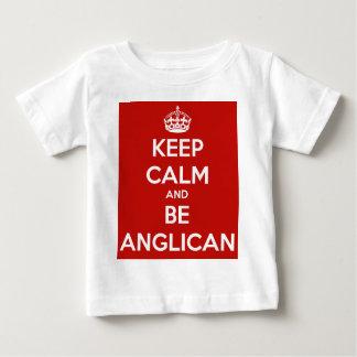 T-shirt Pour Bébé Maintenez calme et soyez Anglican