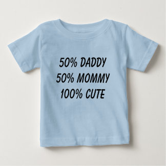 T-shirt Pour Bébé maman du papa 50% de 50% 100% mignon