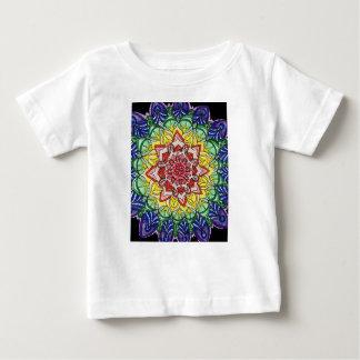 T-shirt Pour Bébé Mandala d'arc-en-ciel