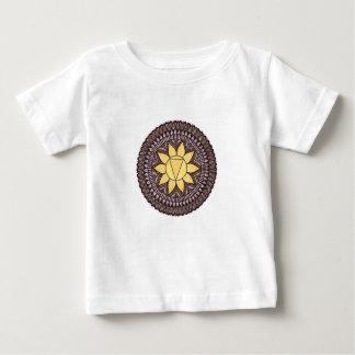 T-shirt Pour Bébé Mandala de Chakra de plexus solaire