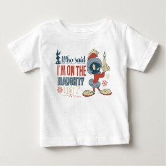 T-shirt Pour Bébé MARVIN LE MARTIAN™- je suis sur la liste vilaine ?