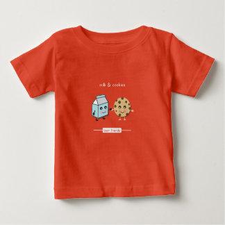 T-shirt Pour Bébé Meilleurs amis : Lait et biscuits