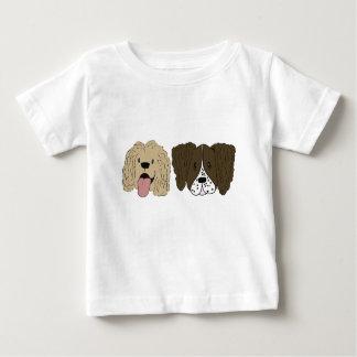 T-shirt Pour Bébé Meilleurs amis - les épagneuls