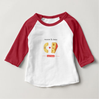 T-shirt Pour Bébé Meilleurs amis : Macaronis et fromage