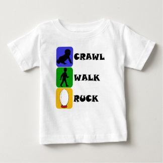 T-shirt Pour Bébé Mêlée de promenade de rampement