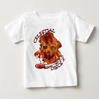 T-shirt Pour Bébé MeltingInfernoCelestialDiscsRed