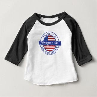 T-shirt Pour Bébé Merci pour votre chemise de jour de vétérans de