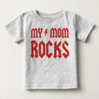 T-shirt Pour Bébé Mes roches de maman !