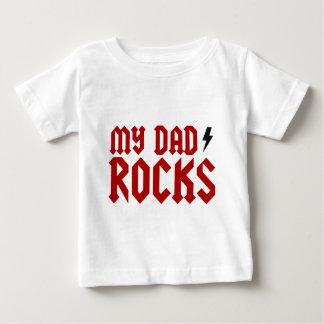 T-shirt Pour Bébé Mes roches de papa