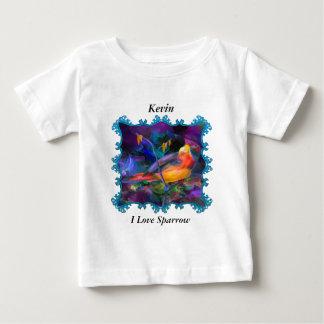T-shirt Pour Bébé Moineau coloré de bel arc-en-ciel