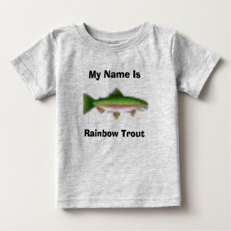 T-shirt Pour Bébé Mon nom est, truite arc-en-ciel