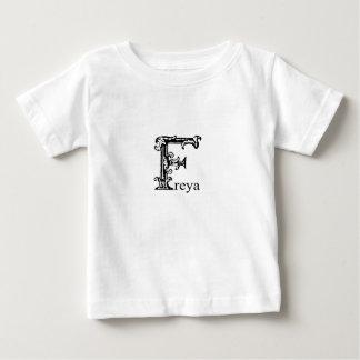 T-shirt Pour Bébé Monogramme de fantaisie : Freya