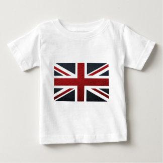 T-shirt Pour Bébé Motif en cuir Union Jack les Anglais (R-U) Fla de