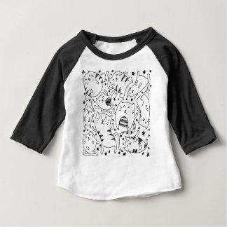 T-shirt Pour Bébé Motif peu précis drôle de griffonnage de chats de