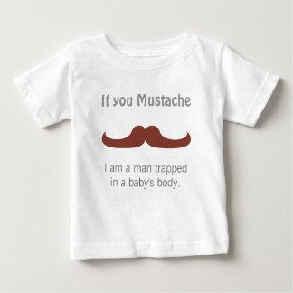 T-shirt Pour Bébé Moustache lunatique pour des bébés
