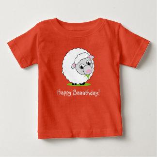 T-shirt Pour Bébé Moutons laineux blancs mignons et câlins de style