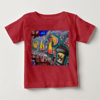 T-shirt Pour Bébé Mur d'étiquette