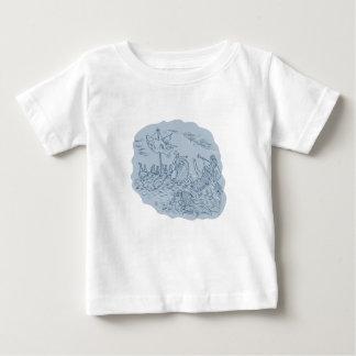 T-shirt Pour Bébé Navigateur de Trireme de Grec se dirigeant évitant