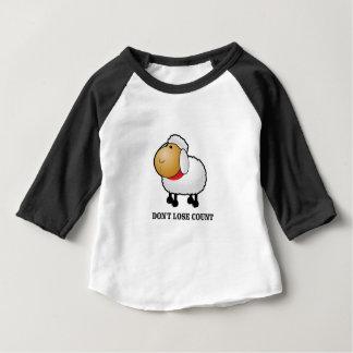 T-shirt Pour Bébé ne perdez pas les moutons de compte