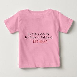 T-shirt Pour Bébé Ne salissez pas avec moi le cou rouge d'une
