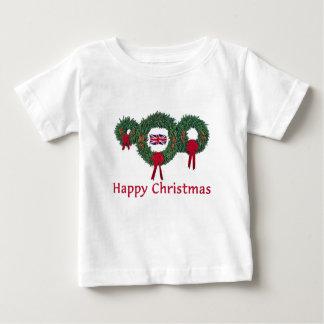T-shirt Pour Bébé Noël britannique 2