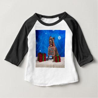 T-shirt Pour Bébé Noël de pitbull