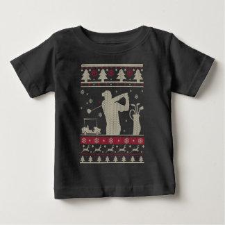 T-shirt Pour Bébé Noël laid de golf
