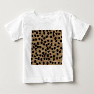 T-shirt Pour Bébé Noir et modèle d'impression de guépard de Brown