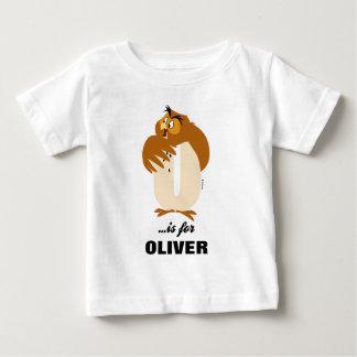 T-shirt Pour Bébé O est pour le hibou que | ajoutent votre nom