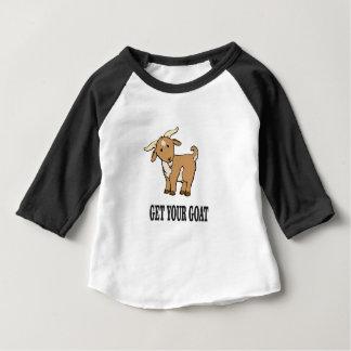 T-shirt Pour Bébé obtenez votre plaisanterie de chèvre
