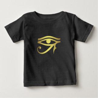 T-shirt Pour Bébé Oeil de chemise égyptienne de bébé de noir de