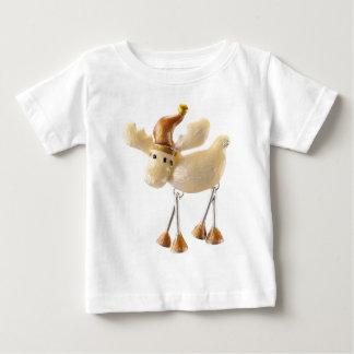 T-shirt Pour Bébé Orignaux lunatiques/renne de Noël