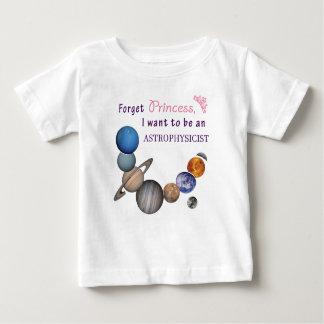 T-shirt Pour Bébé Oubliez la princesse - astrophysicienne