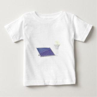 T-shirt Pour Bébé Panneau solaire et ampoule