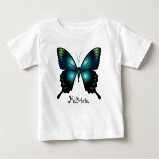 T-shirt Pour Bébé Papillon lunatique élégant d'Aqua