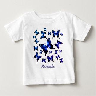 T-shirt Pour Bébé Papillons lunatiques élégants de bleu royal