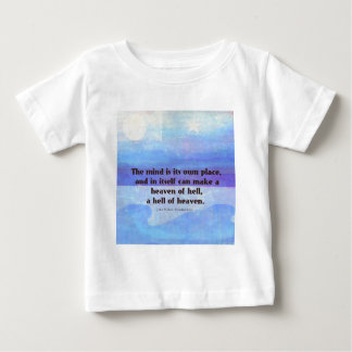 T-shirt Pour Bébé Paradis inspiré de citation de Milton perdu
