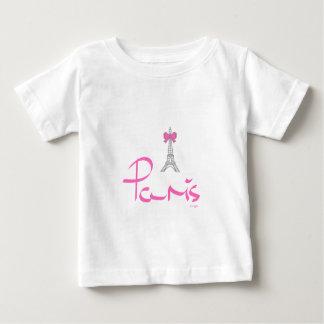 T-shirt Pour Bébé Paris, - la France, Eiffel, français