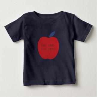 T-shirt Pour Bébé Pas plus grand que trois pommes