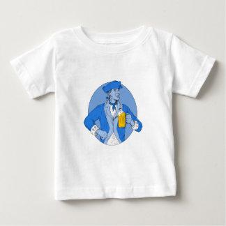 T-shirt Pour Bébé Patriote américain tenant le dessin ovale de tasse