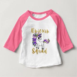 T-shirt Pour Bébé Peloton de licorne, poney coloré