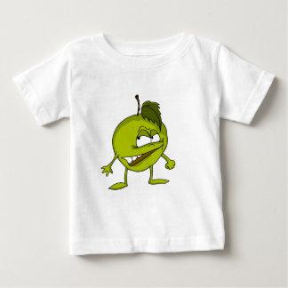 T-shirt Pour Bébé Personnage de dessin animé d'Apple avec un sourire